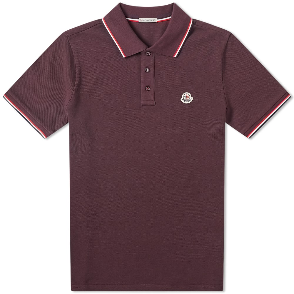 Moncler Classic Contrast Tipped Polo