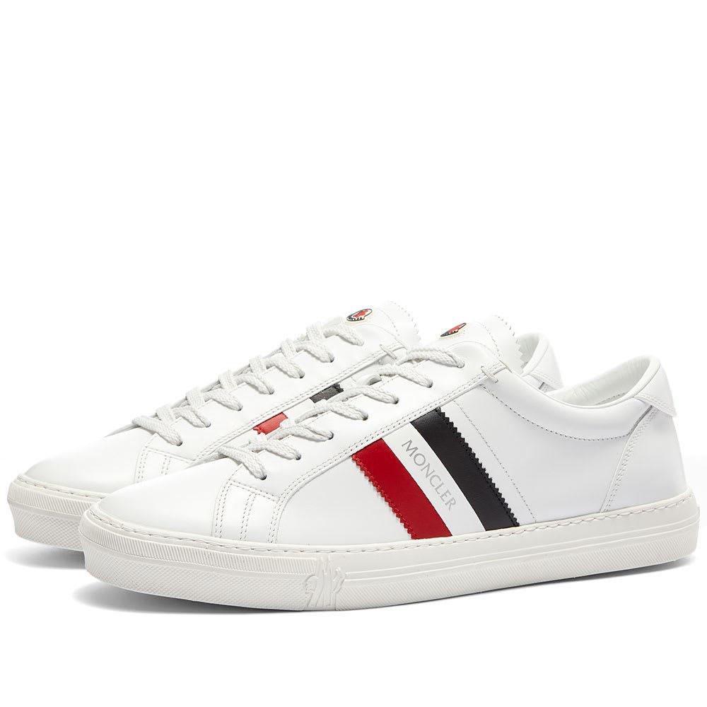 67e4c2f9917 Moncler New Monaco Tricolour Cupsole Sneaker White & Multi | END.