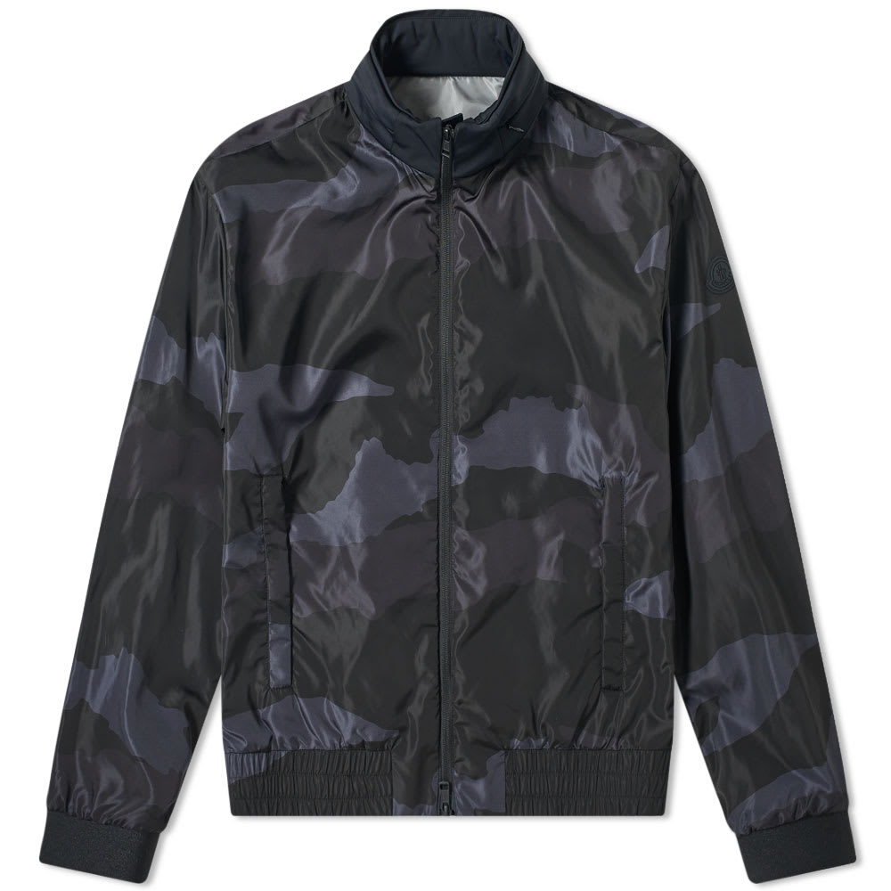f4b3275005d95 Moncler Theodore Camo Print Bomber Jacket Black | END.