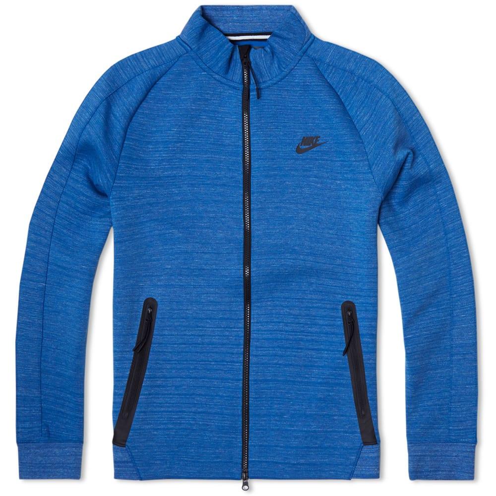 nike tech n98 fleece jacket military blue heather black. Black Bedroom Furniture Sets. Home Design Ideas