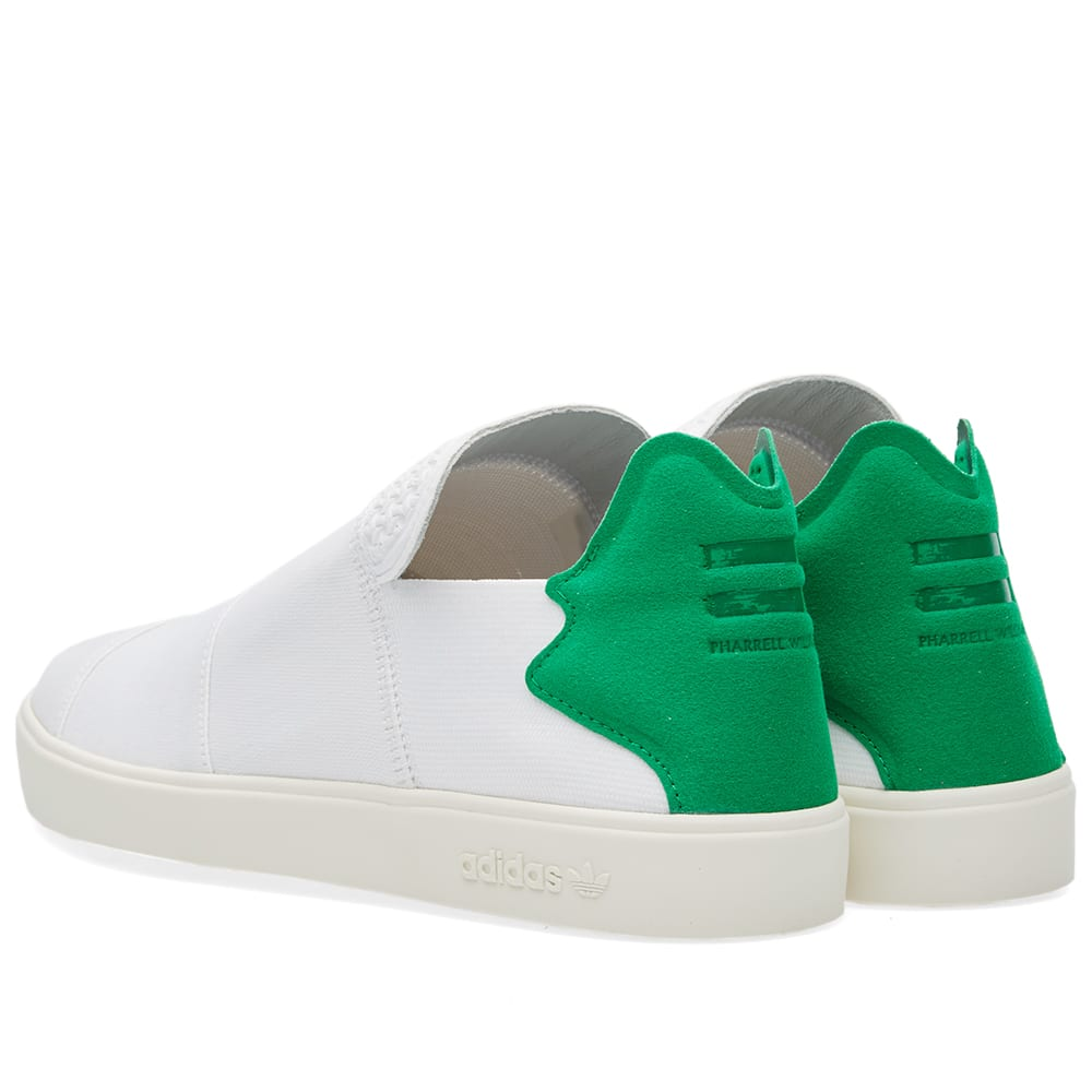 0e56f088c Adidas Consortium x Pharrell Elastic Slip On PW White   Green