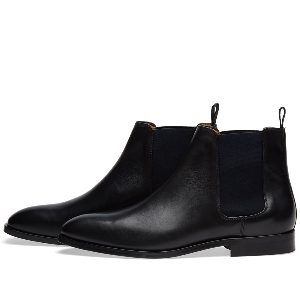 Paul Smith Gerald Chelsea Boot Black Calf Leather End