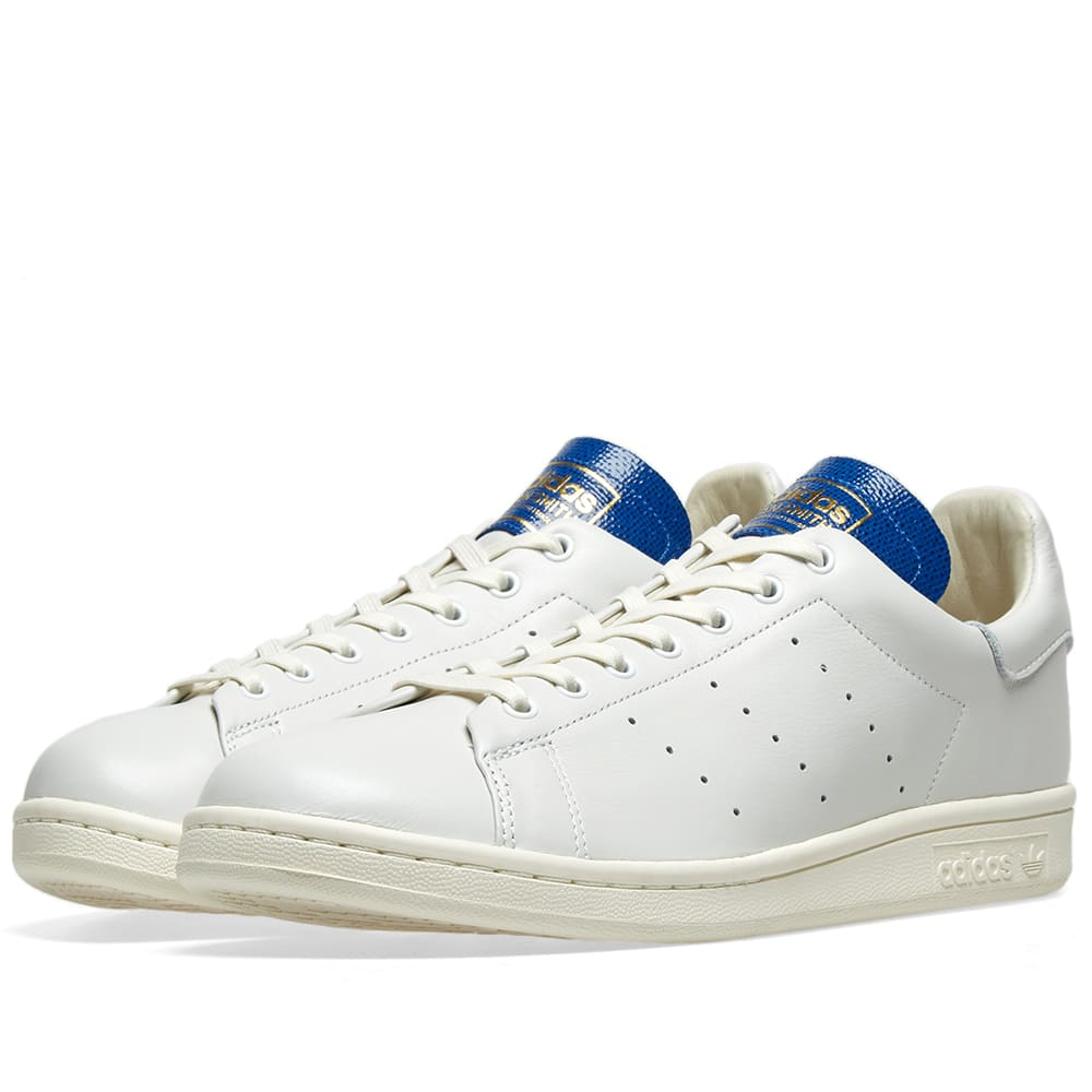 new arrival 0ac51 3ad68 Adidas Stan Smith Blue Thread White   Collegiate Royal   END.