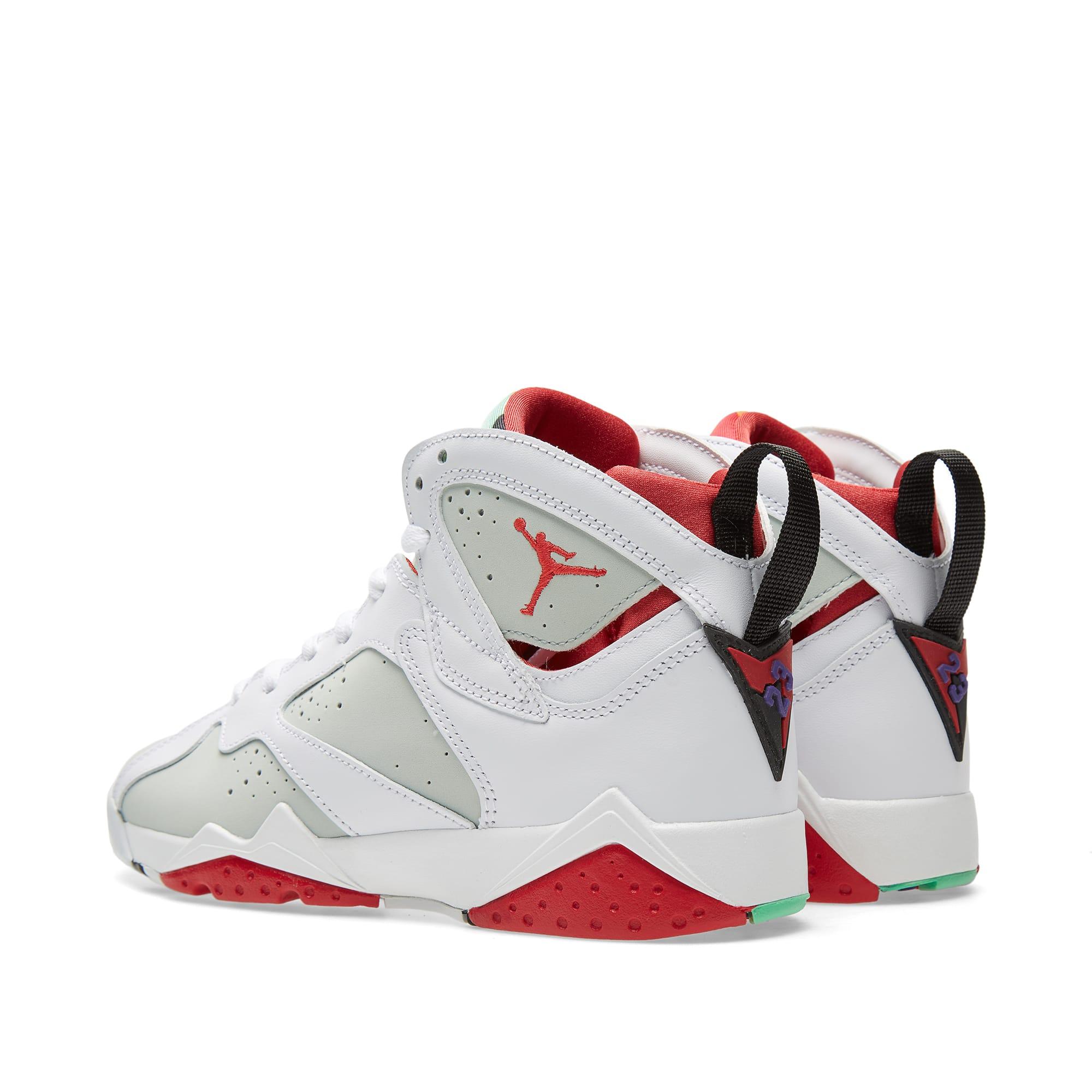 on sale ab3f4 81f26 Nike Air Jordan VII Retro BG  Hare  White, True Red   Light Silver   END.