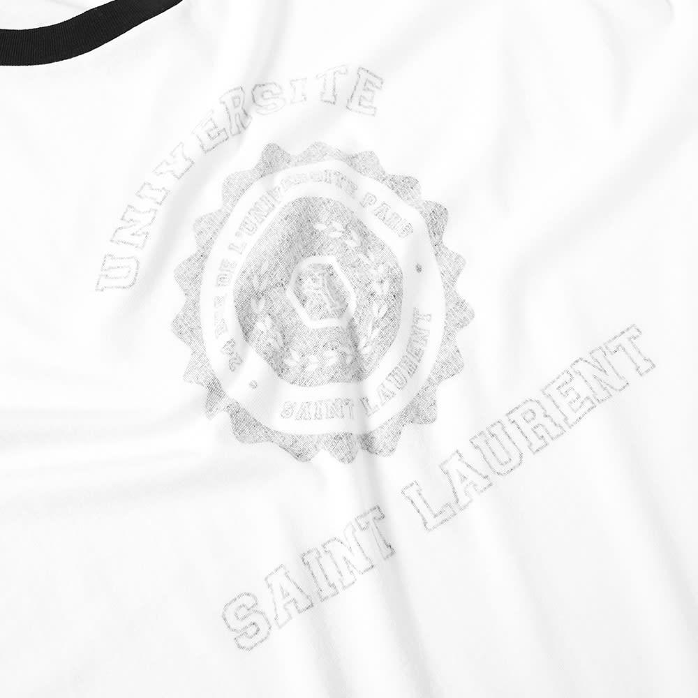 64973570 Saint Laurent Vintage University Tee White & Black | END.