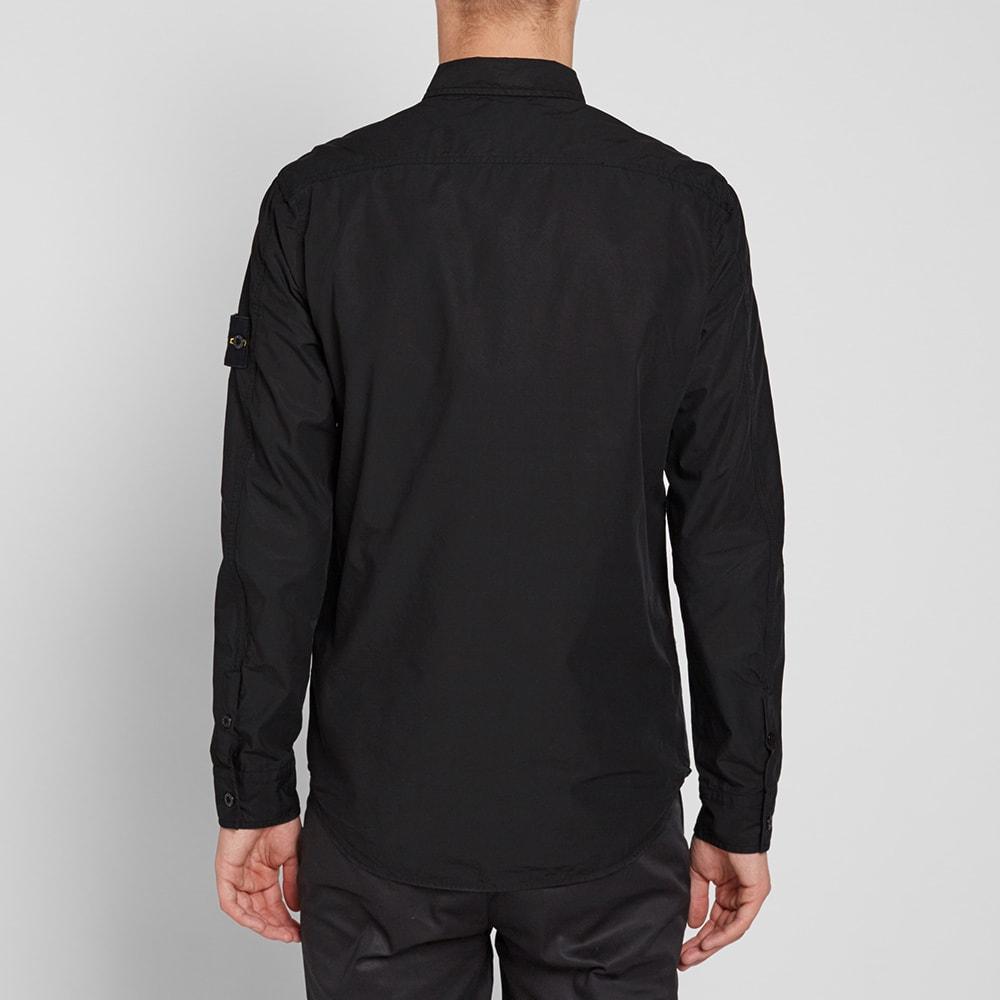 Stone Island Garment Dyed Overshirt (Black)