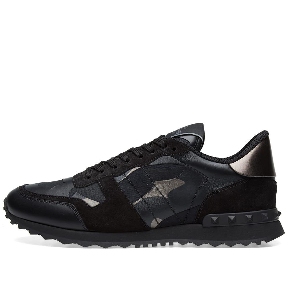 1608c98c2dc5b Valentino Metallic Camo Rockrunner Sneaker Black & Dark Rutenio   END.