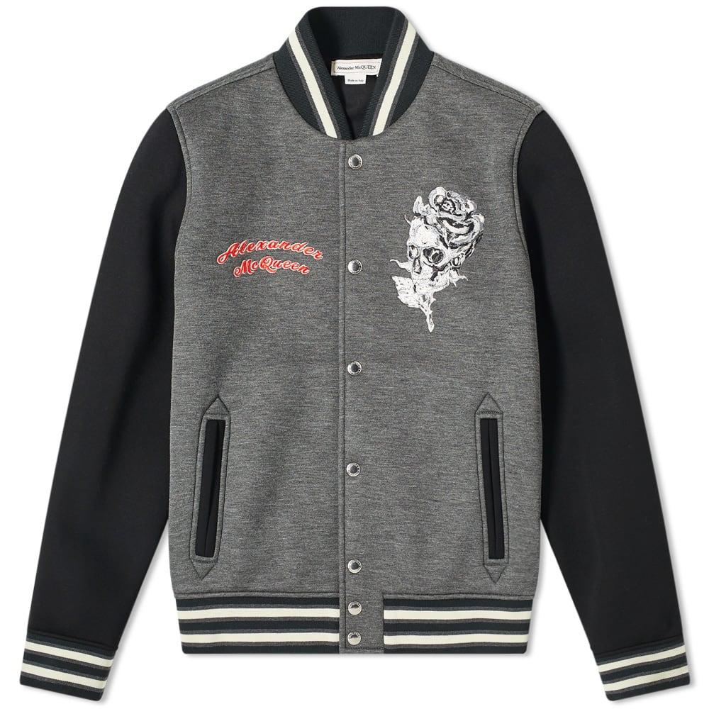 4a7ab62a1 Alexander McQueen Embroidered Bomber Jacket