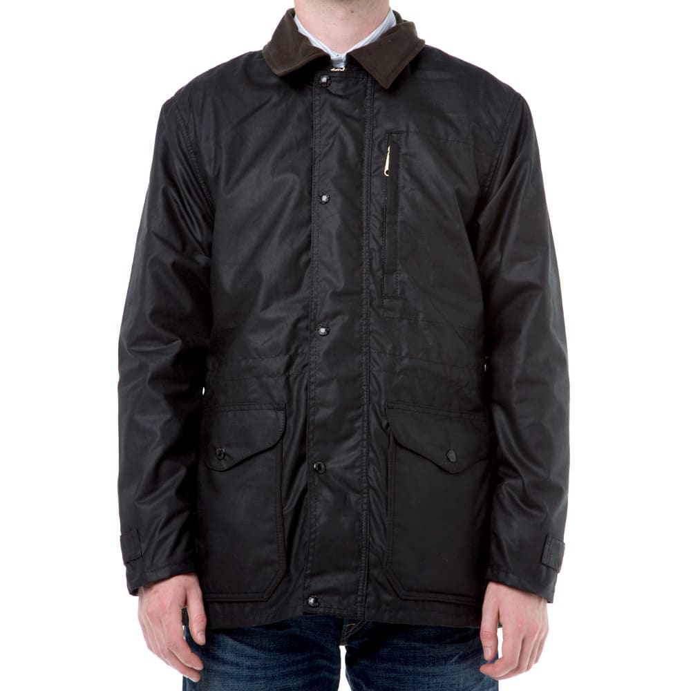 Filson Cover Cloth Mile Marker Coat (Black)