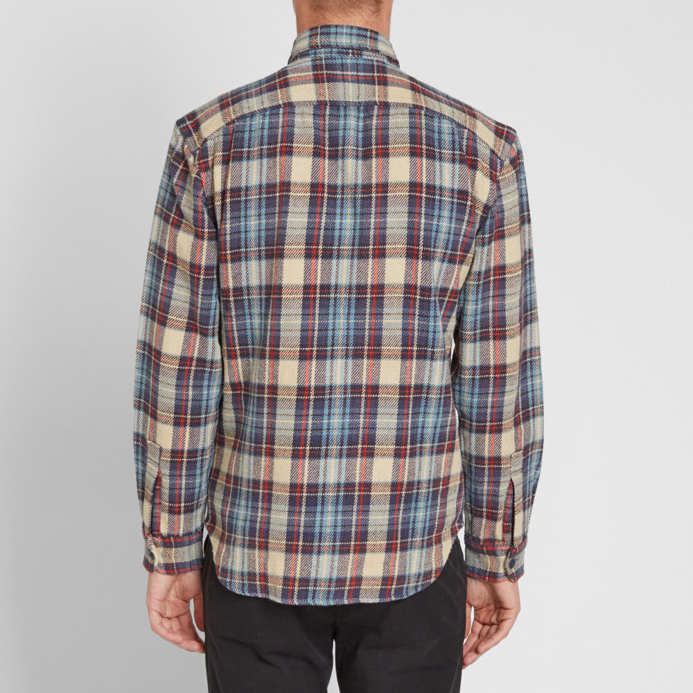 1fc88338 RRL Matlock Work Shirt Indigo & Red   END.