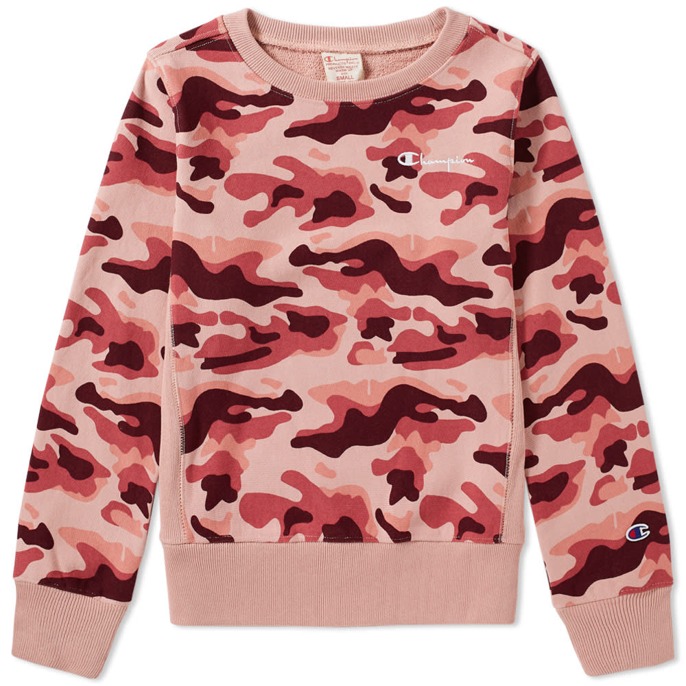 394960a2 Champion Reverse Weave Women's Classic Camo Crew Sweat Rose | END.
