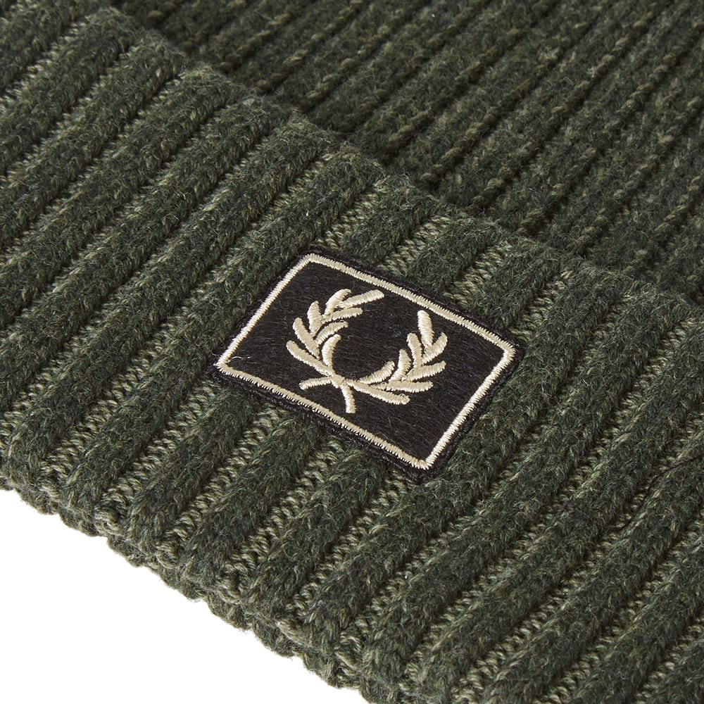 0321a0fc Fred Perry 2 Tone Cotton Beanie Hunting Green | END.