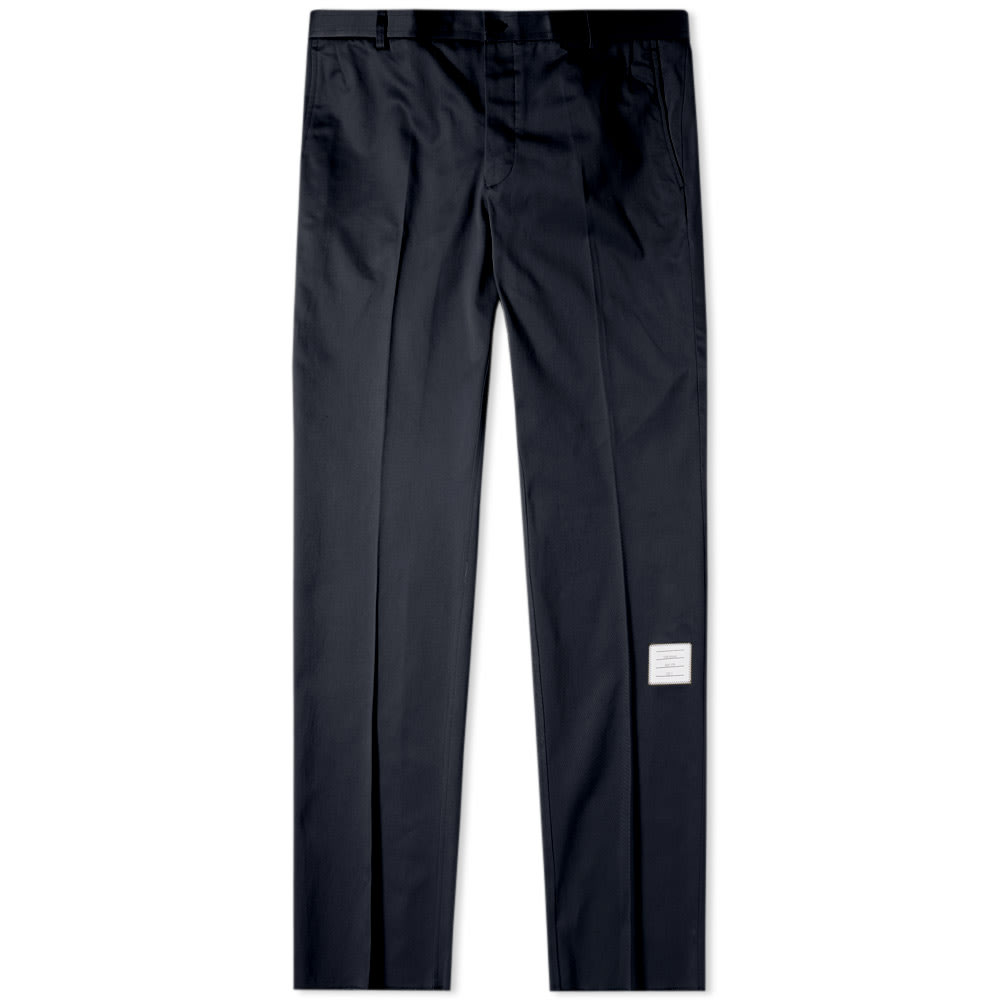 Thom Browne Deconstructed Chino Trousers In Blue