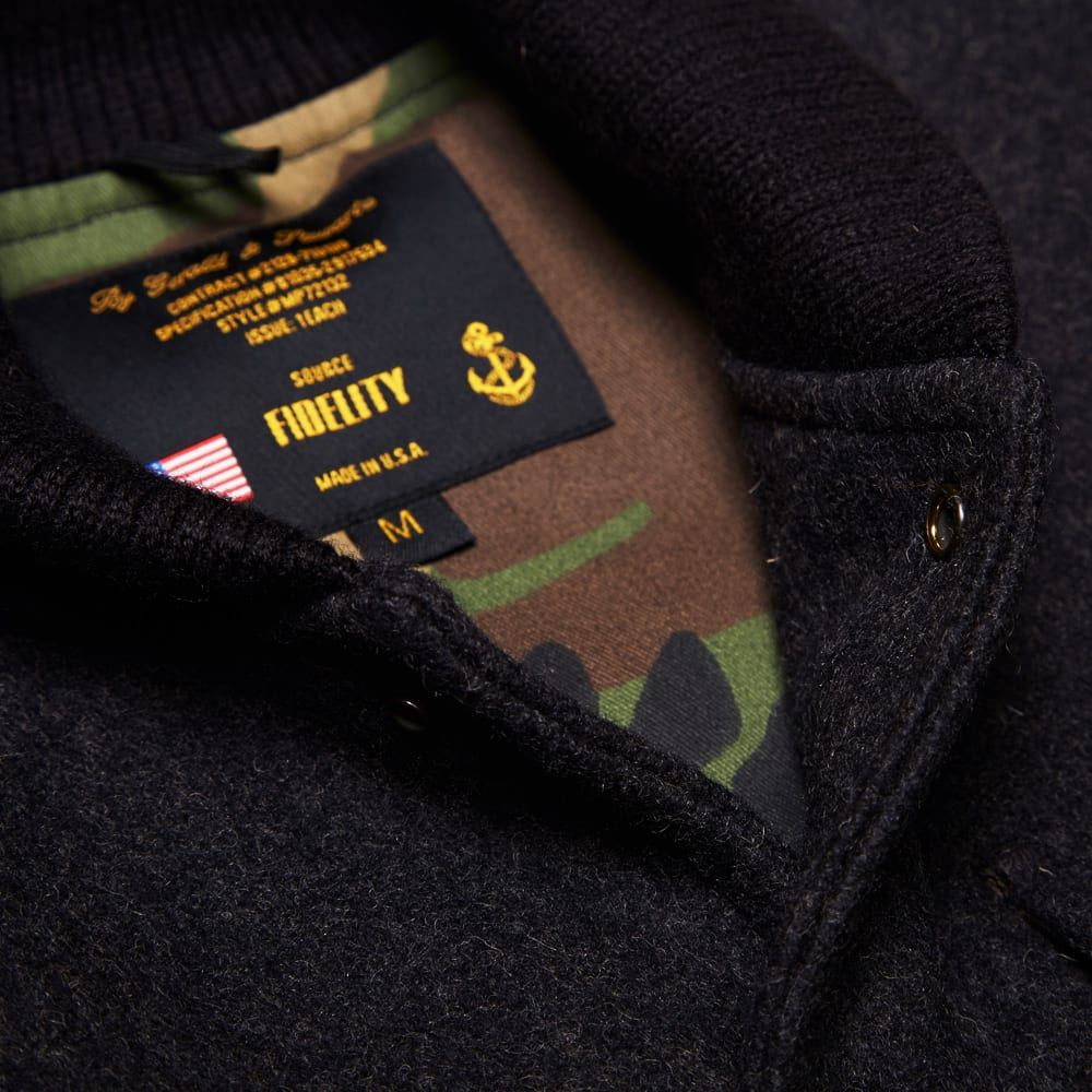 Fidelity Wool Military Baseball Jacket