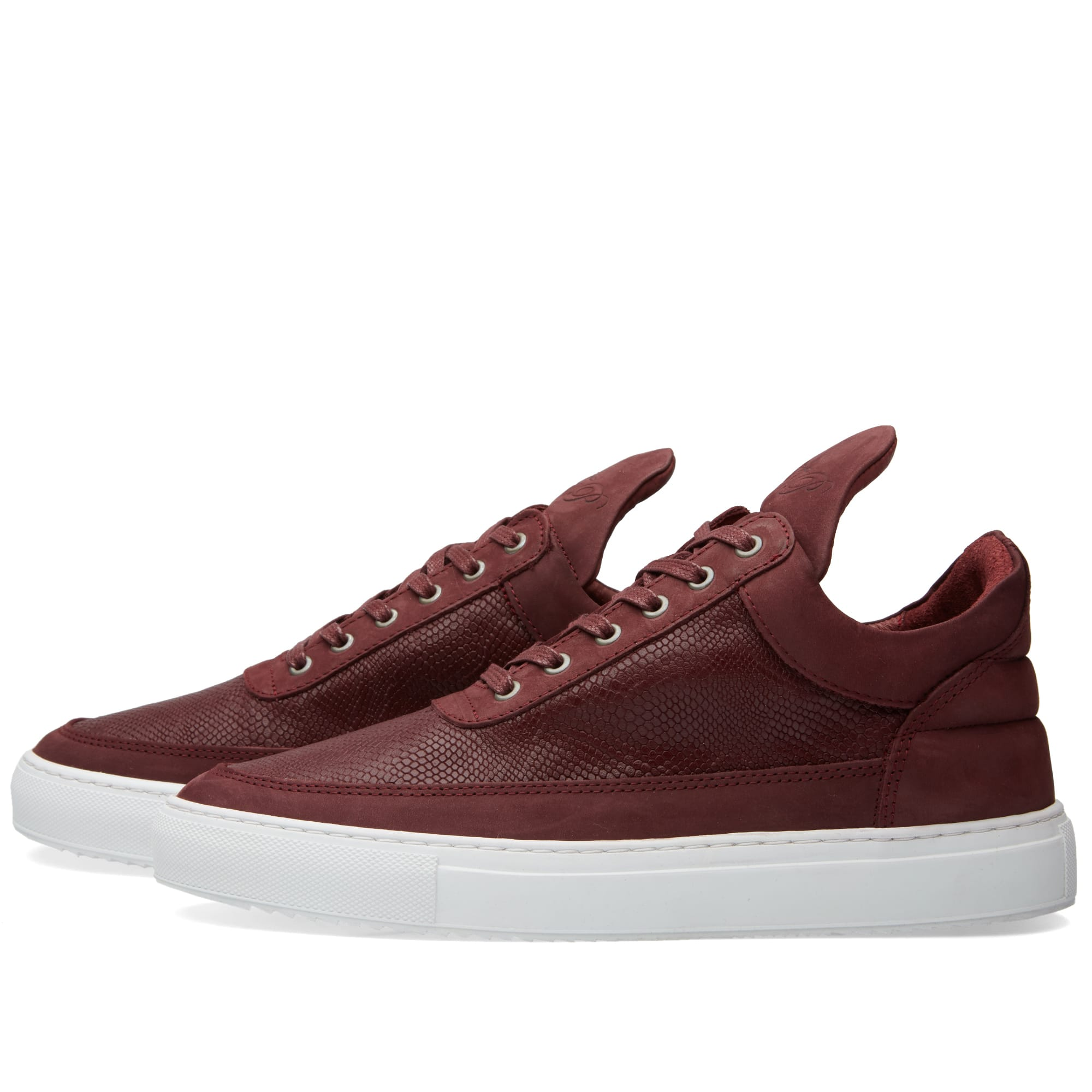 filling pieces low top sneaker maroon leguano. Black Bedroom Furniture Sets. Home Design Ideas