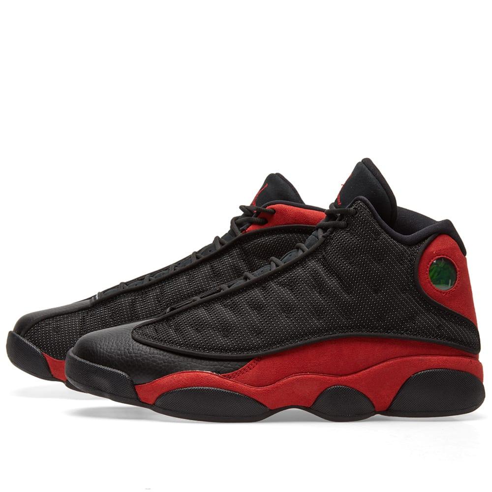 the latest f1b55 83d2d Nike Air Jordan 13 Retro Black, True Red   White   END.