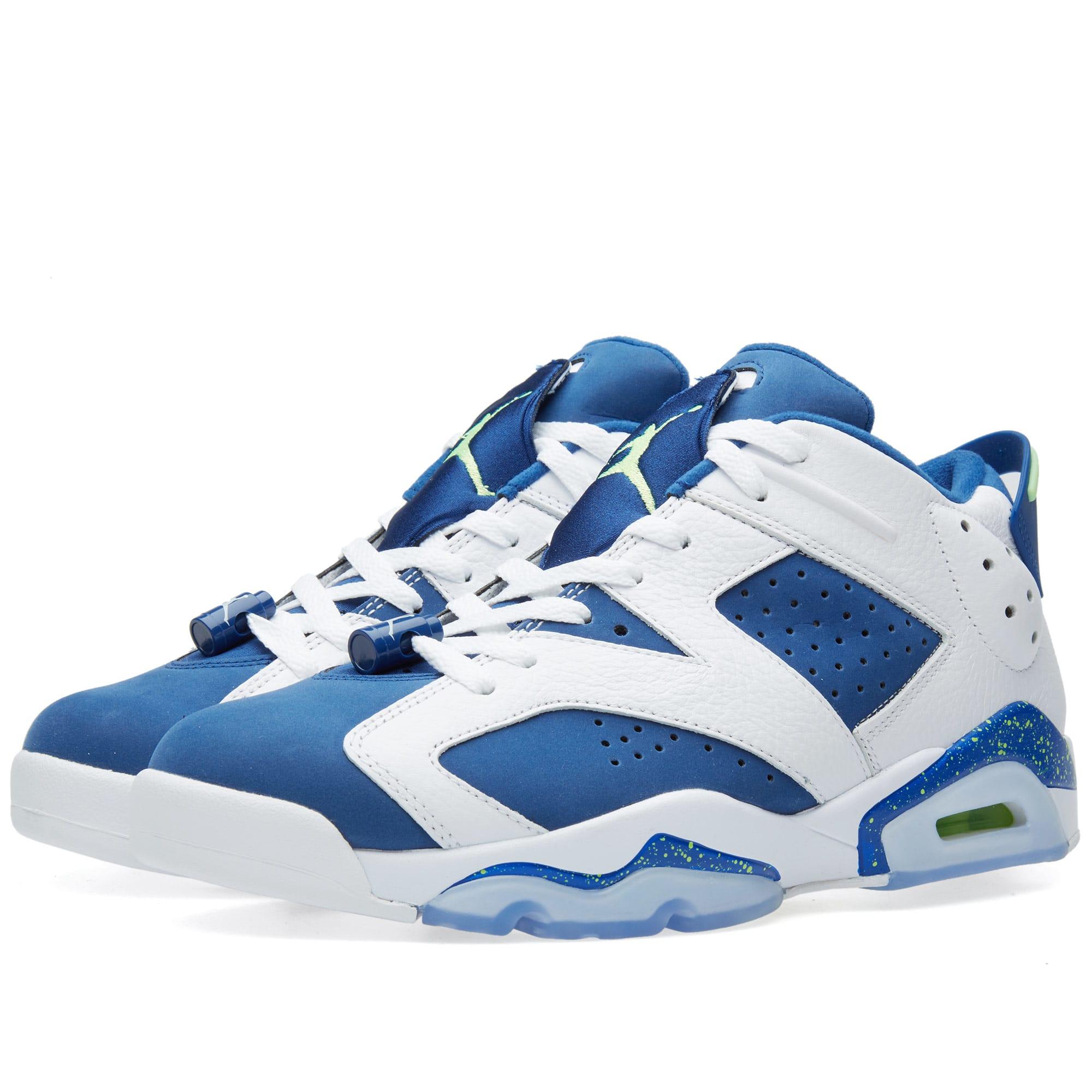 sale retailer c8844 b5a66 Nike Air Jordan VI Retro Low  Insignia Blue  White   Insignia Blue   END.