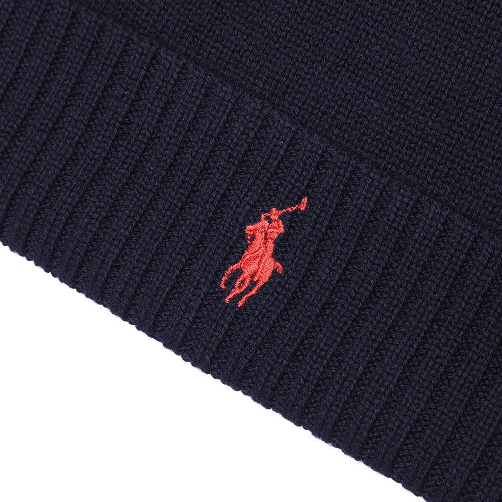 f47683fdb15 Polo Ralph Lauren Merino Wool Beanie Hunter Navy