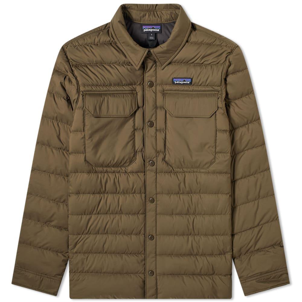 Patagonia Silent Down Shirt Jacket Logwood Brown | END.
