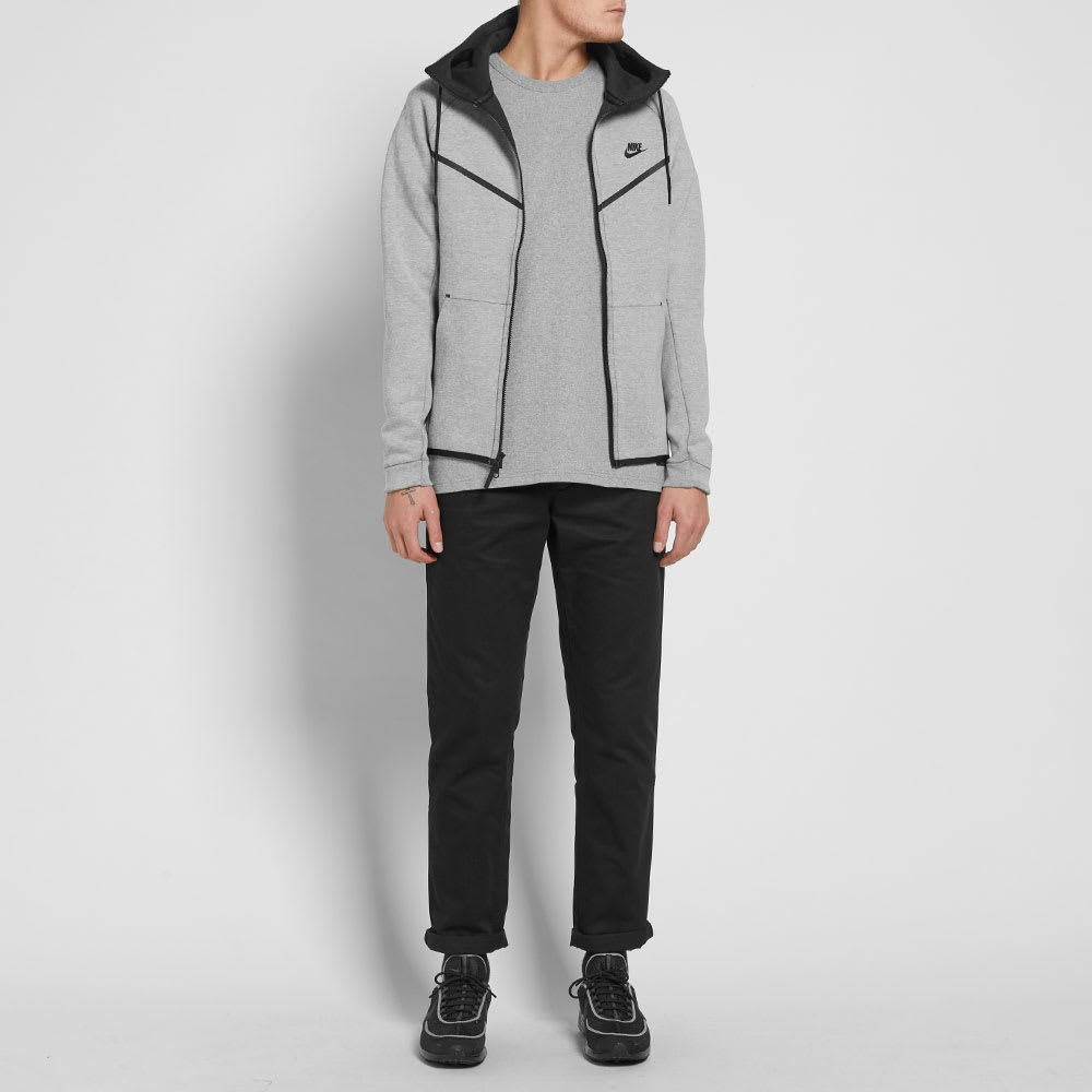 d867ad9ea3bb Nike Tech Fleece Windrunner Light Bone Heather   Black