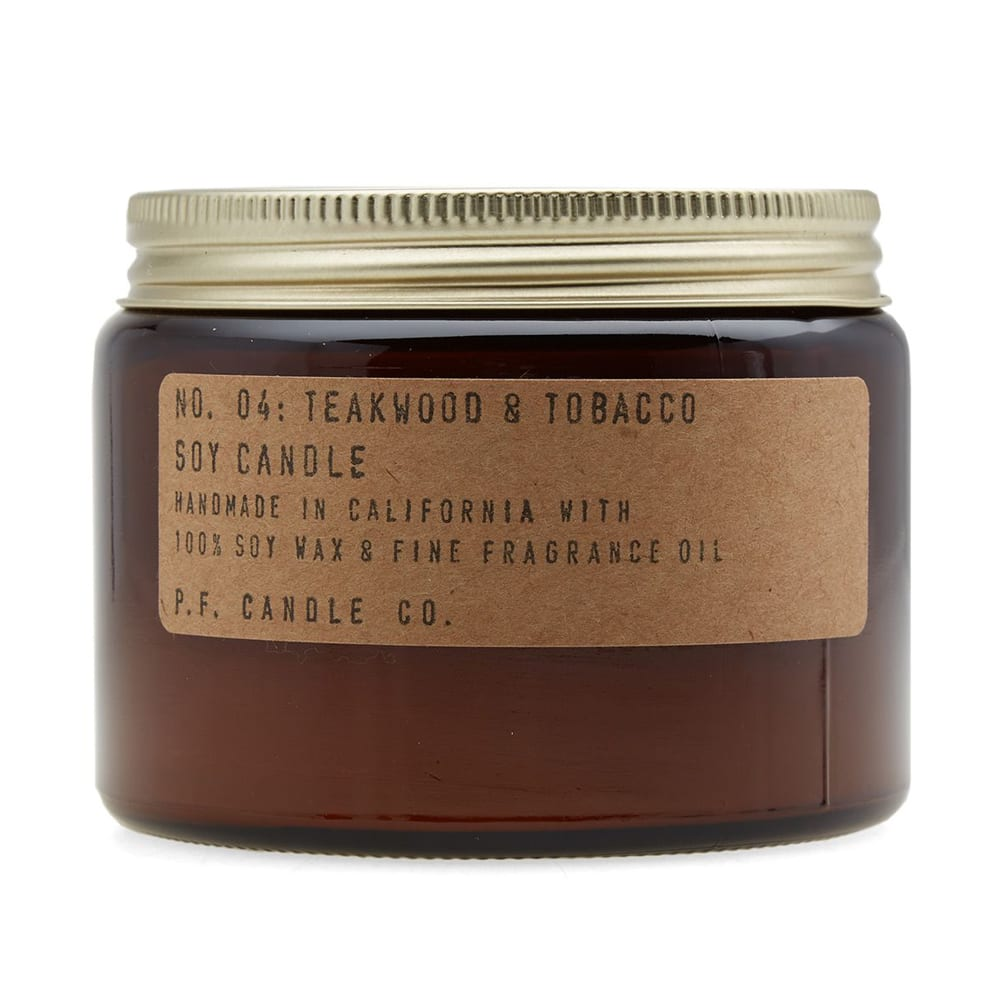 P.F. CANDLE CO. P.F. CANDLE CO NO.04 TEAKWOOD & TOBACCO DOUBLE WICK SOY CANDLE