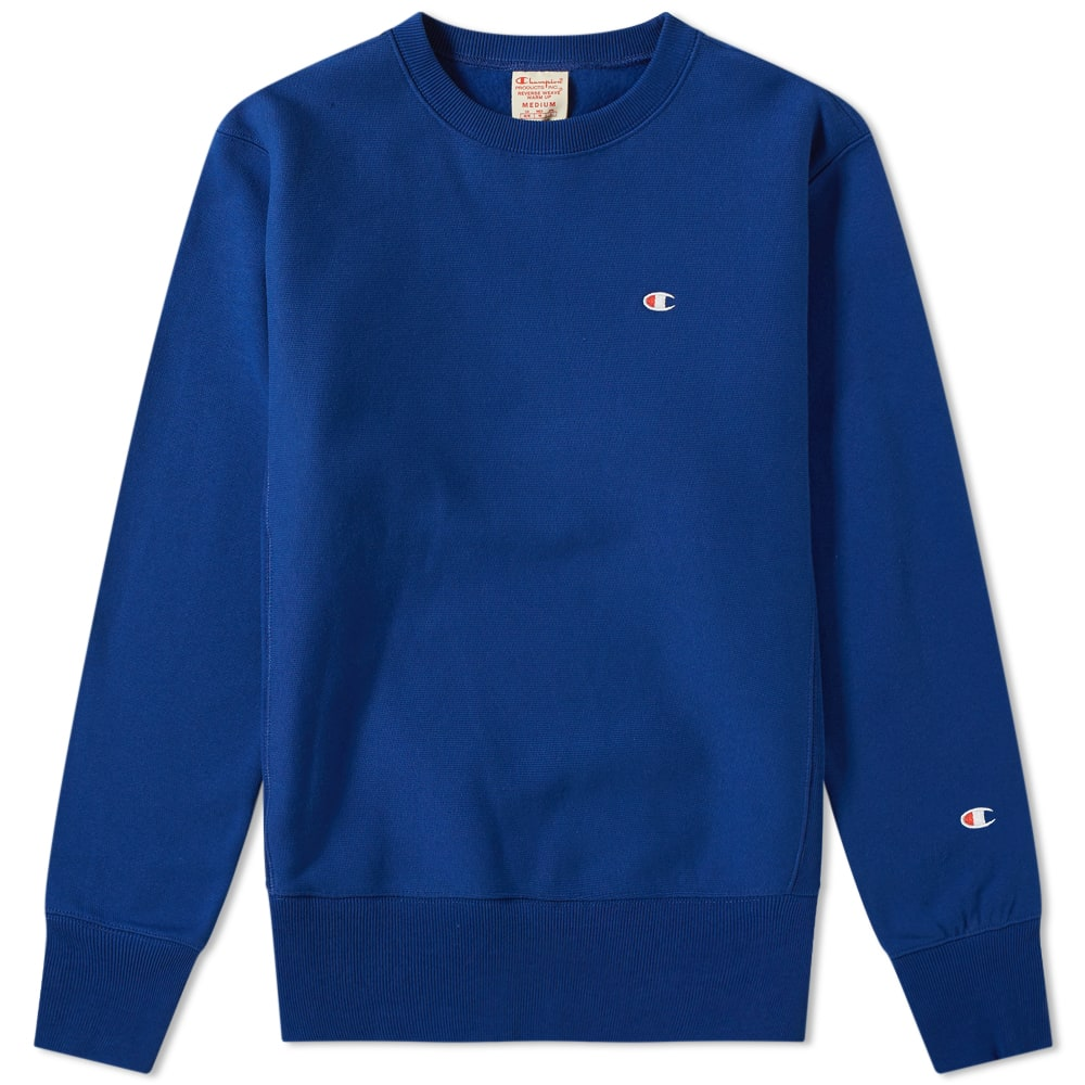5876b639 Champion Reverse Weave Classic Crew Sweat Royal Blue | END.