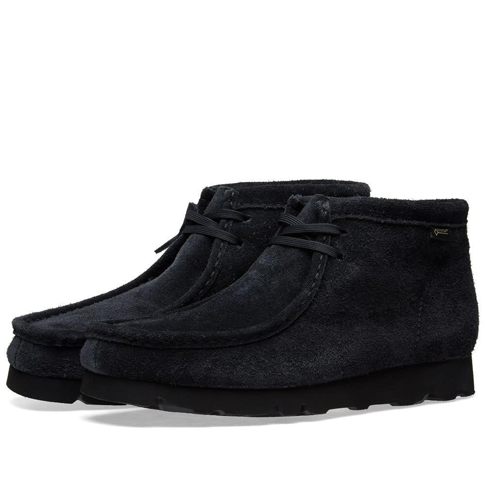 Leather Navy Wallabee Boots Clarks Men's dCoexB