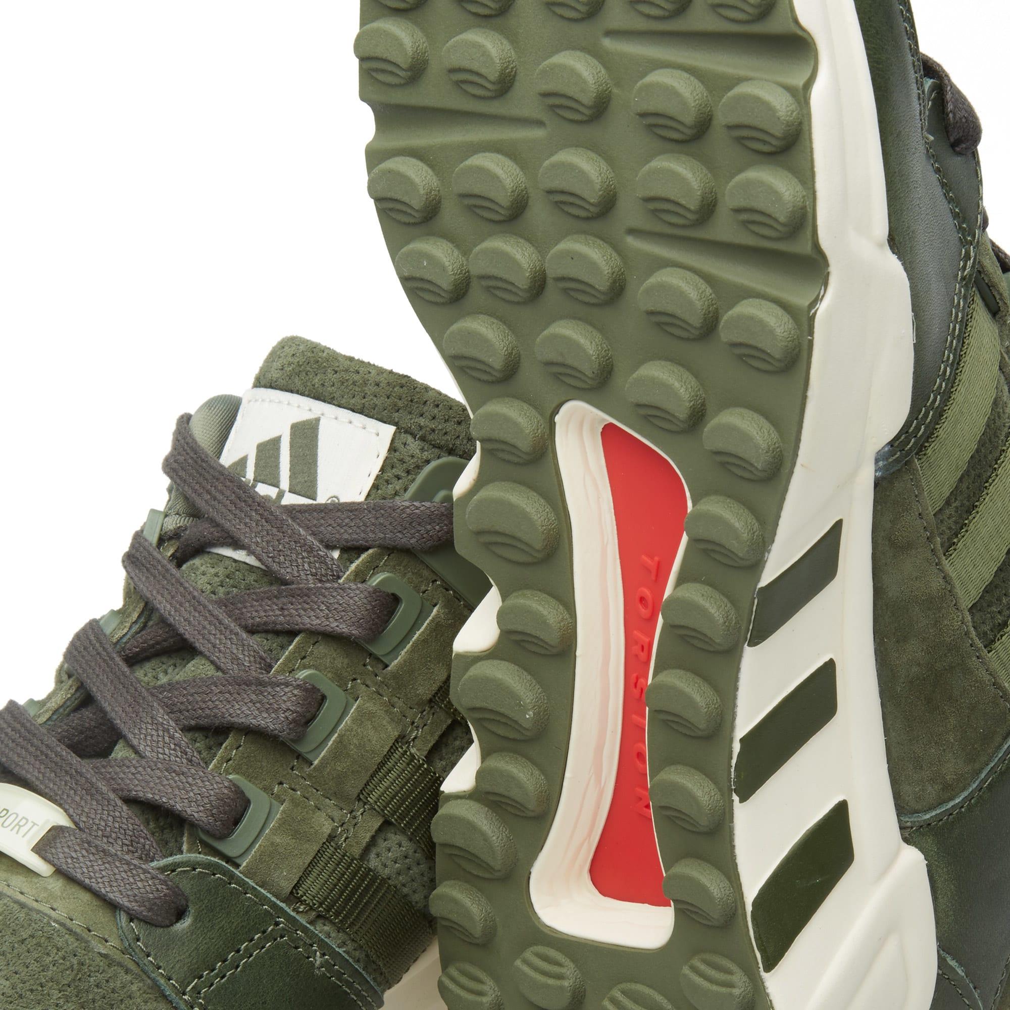 super popular ffe28 41850 Adidas EQT Running Support '93 'Herzo' Base Green & Chalk White   END.