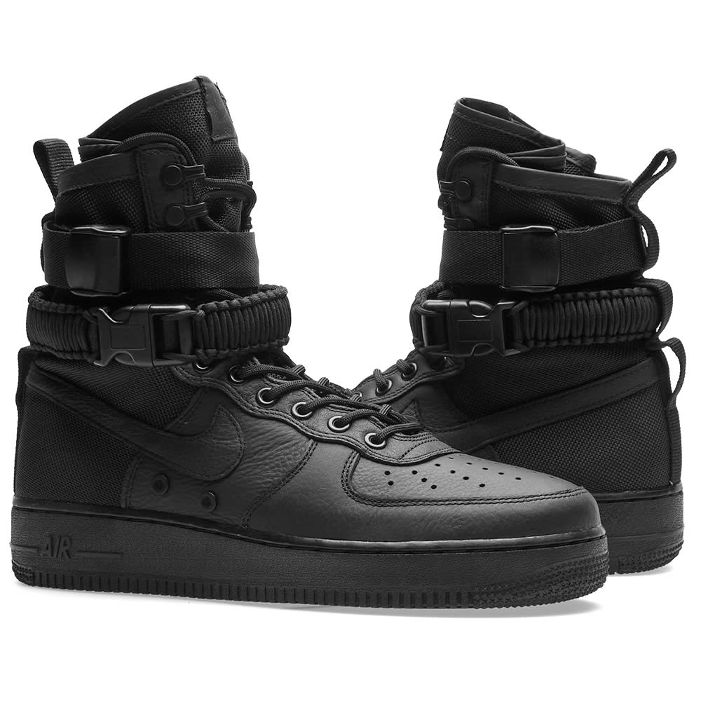 on sale 699c1 2a95f Nike SF Air Force 1 Boot. Black