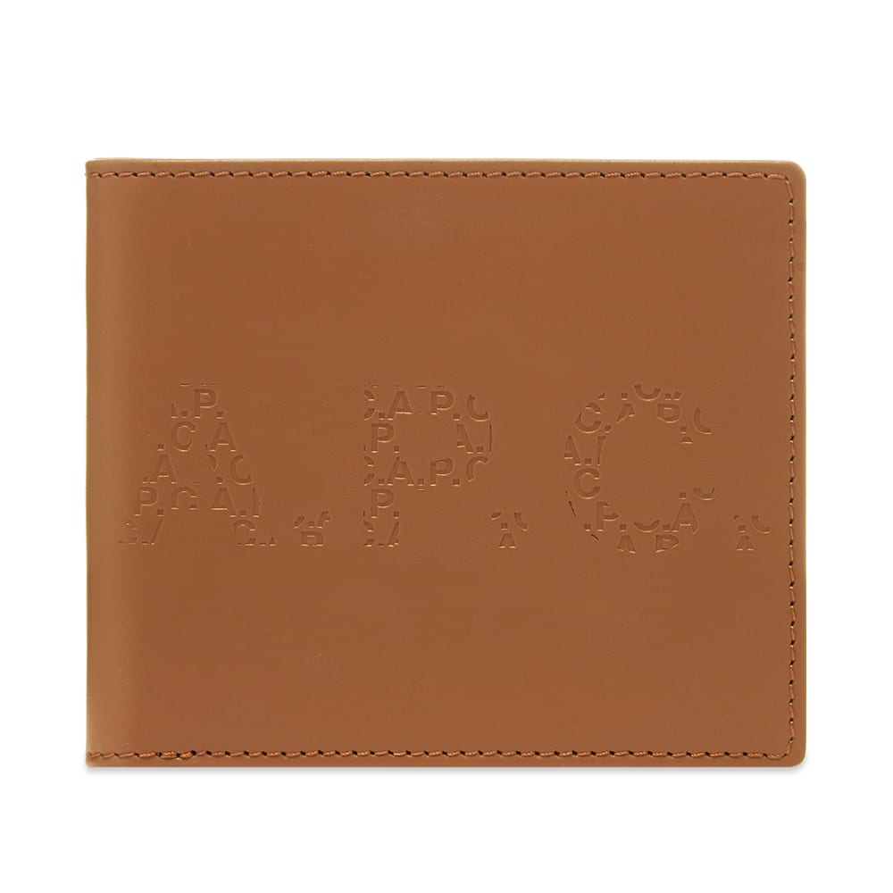 A.P.C. Aly Embossed Logo Billfold Wallet PXBGO-H63336-BAG