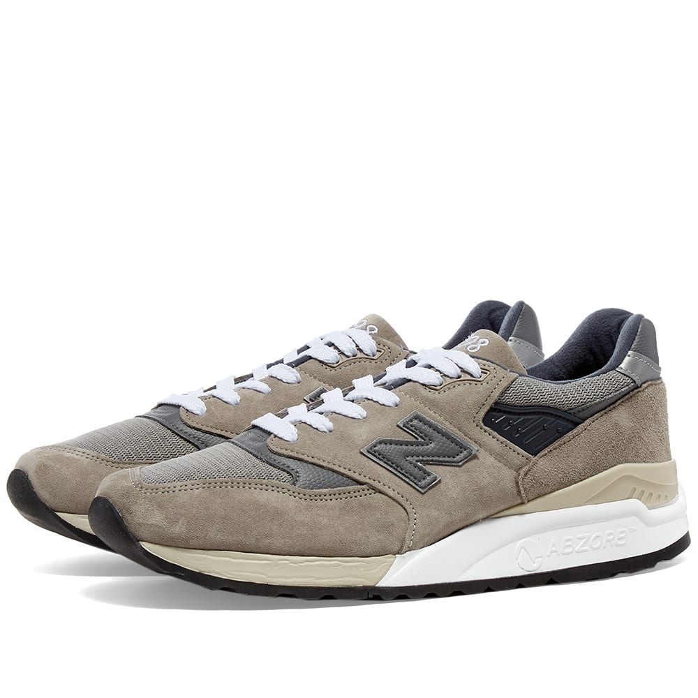 New Balance M998BLA - Made in the USA Grey & Silver | END.