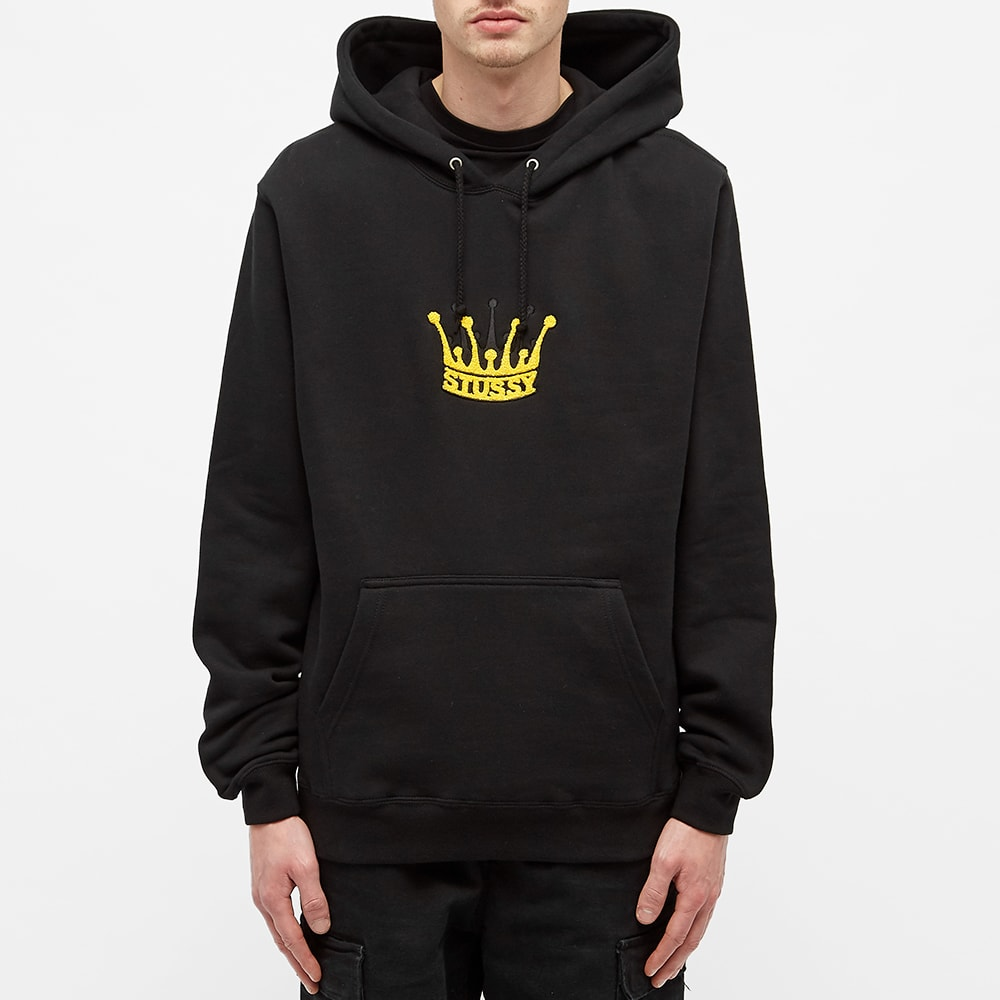 Stussy Chenille Crown App Hood in Black 118352 Free Shipping