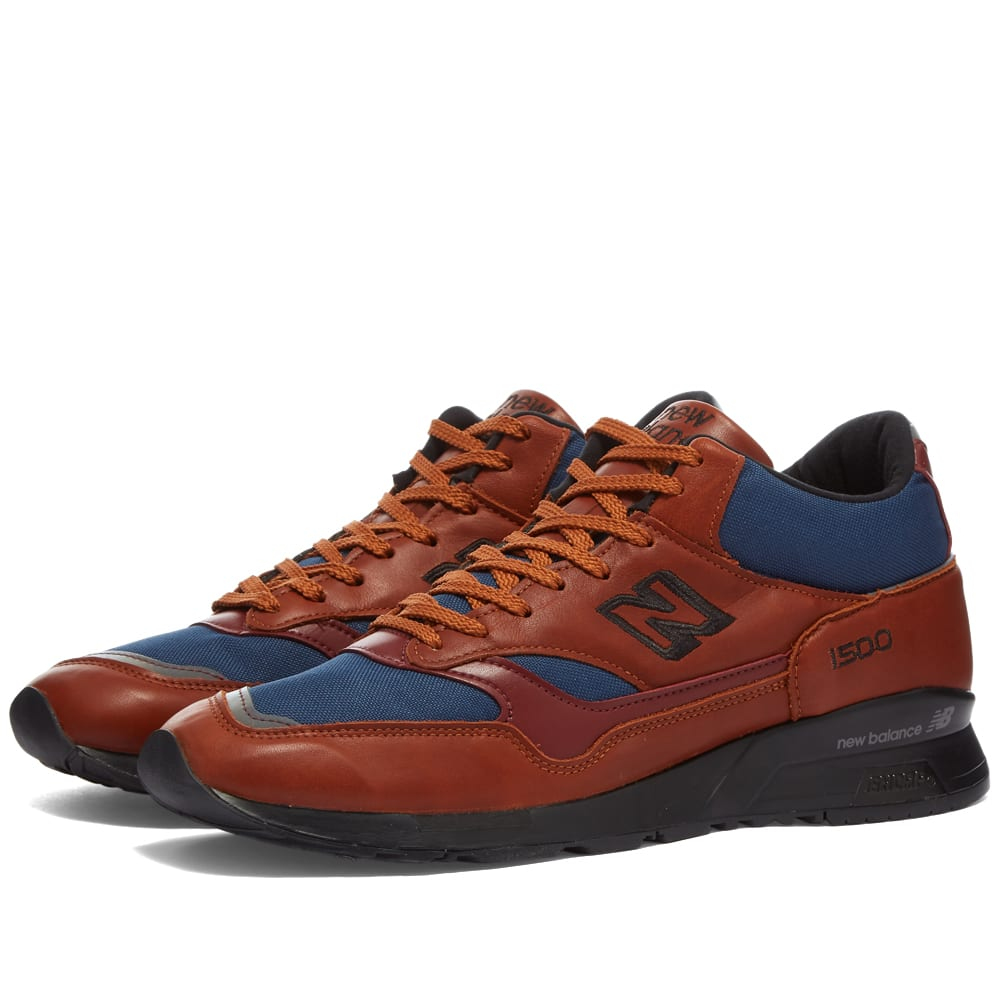 New Balance 1500 Made in UK Shoes - Tan/Navy/Burgundy