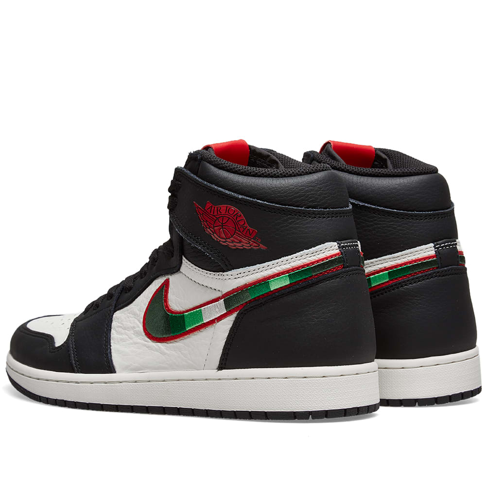 new concept fd4a9 a1cdc Air Jordan 1 Retro High OG Black, Varsity Red   Blue   END.