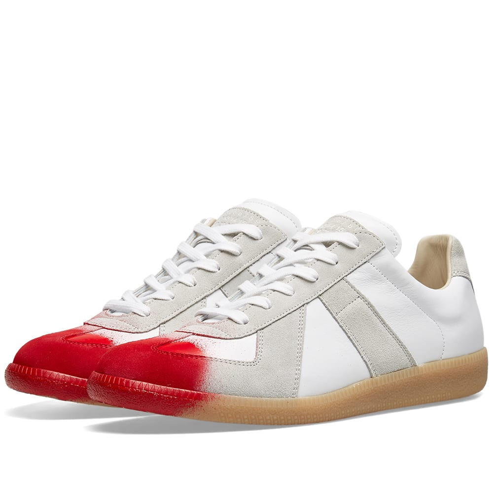 aa0afaf71c07 Maison Margiela 22 Spray Paint Replica Sneaker White & Red | END.