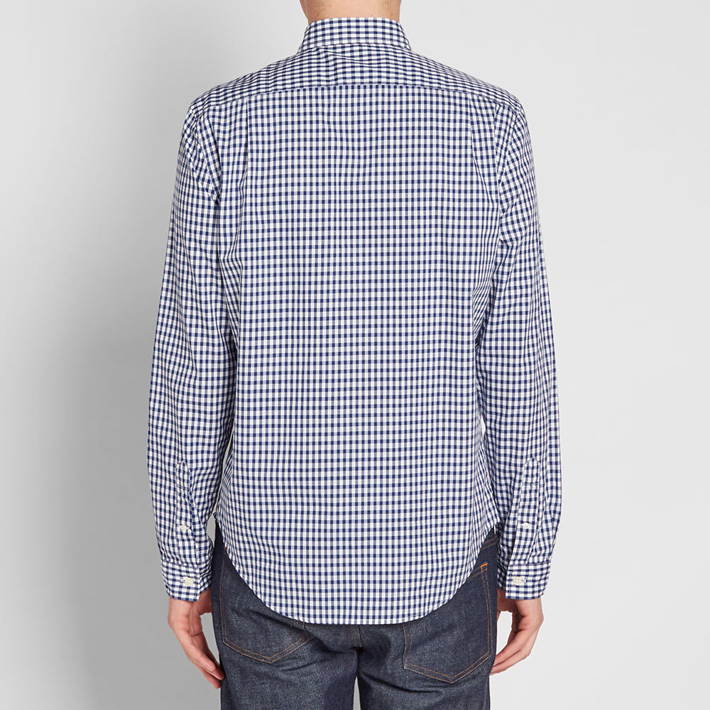 Lacoste Gingham Shirt Navy Amp White End