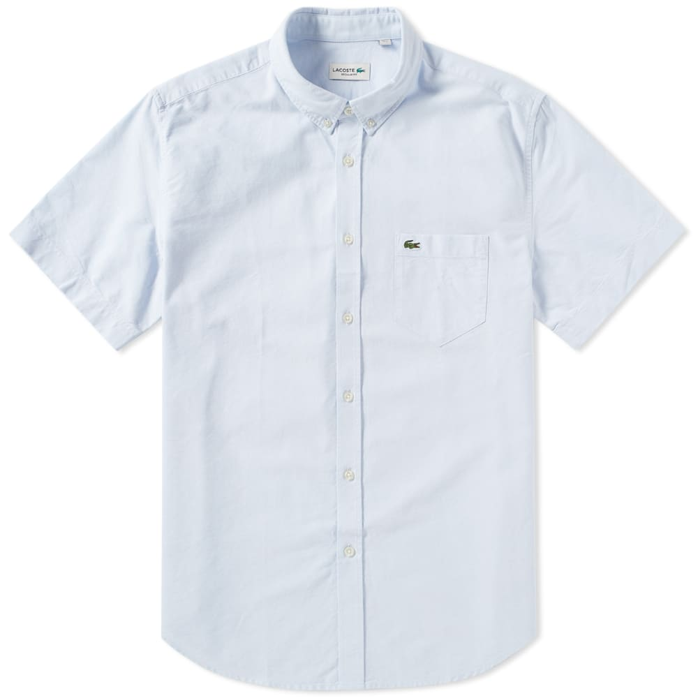 d3afe8a3 Lacoste Short Sleeve Button Down Oxford Shirt