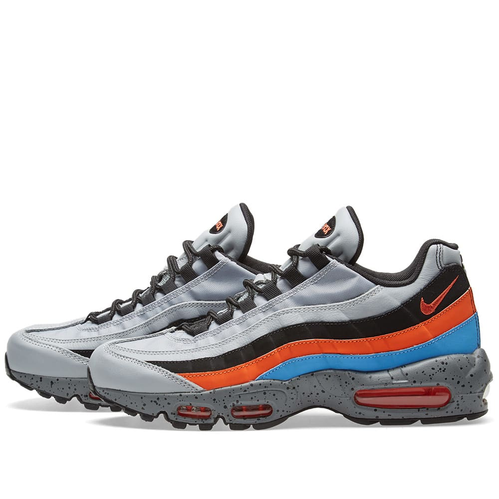 new product 04c1f 2b707 Nike Air Max 95 Premium Wolf Grey, Orange   Blue   END.