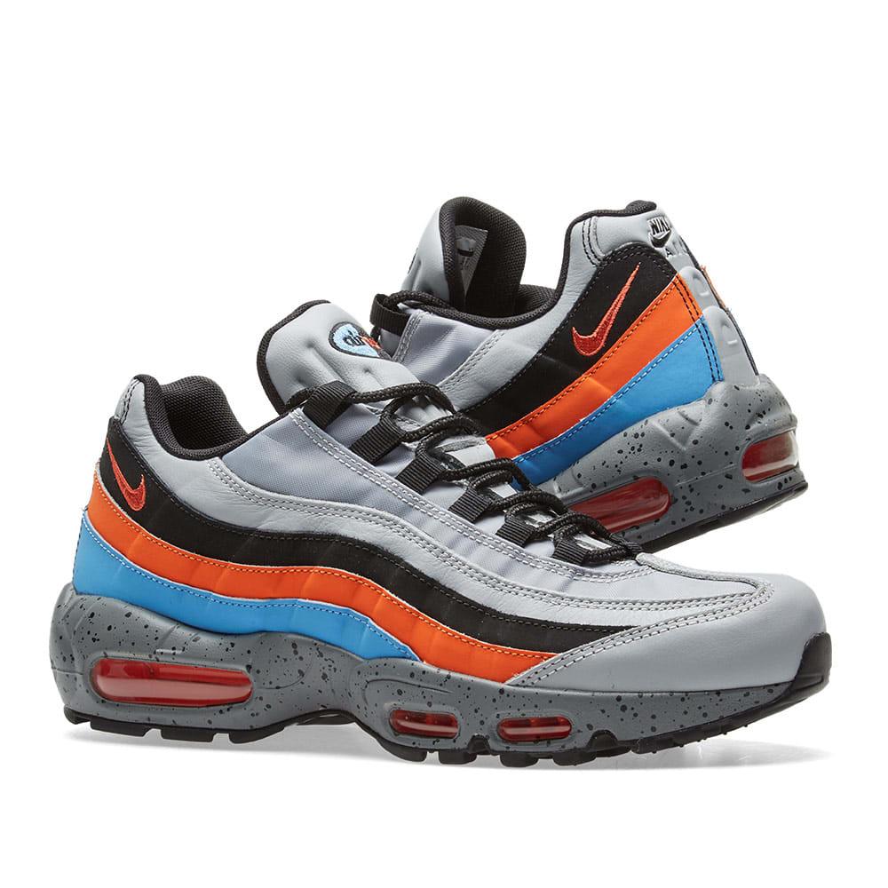 Best Nike Air Max 95 Premium Wolf Grey Safety Orange 538416 015
