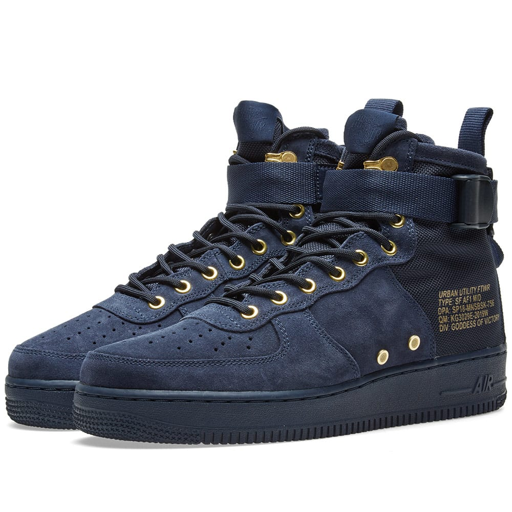 nike sf air force 1 mid zwart