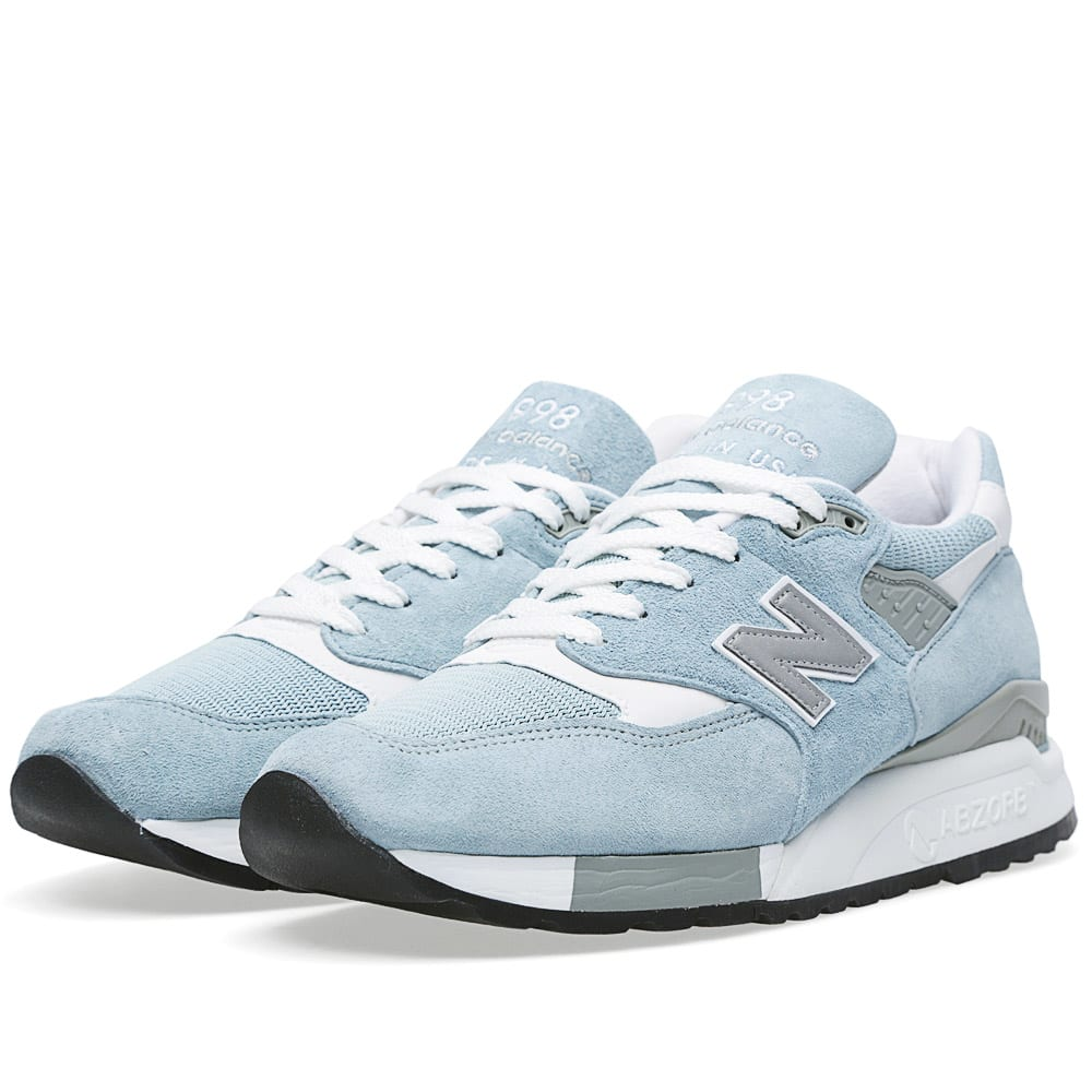 new balance m998ll made in the usa sky blue white. Black Bedroom Furniture Sets. Home Design Ideas