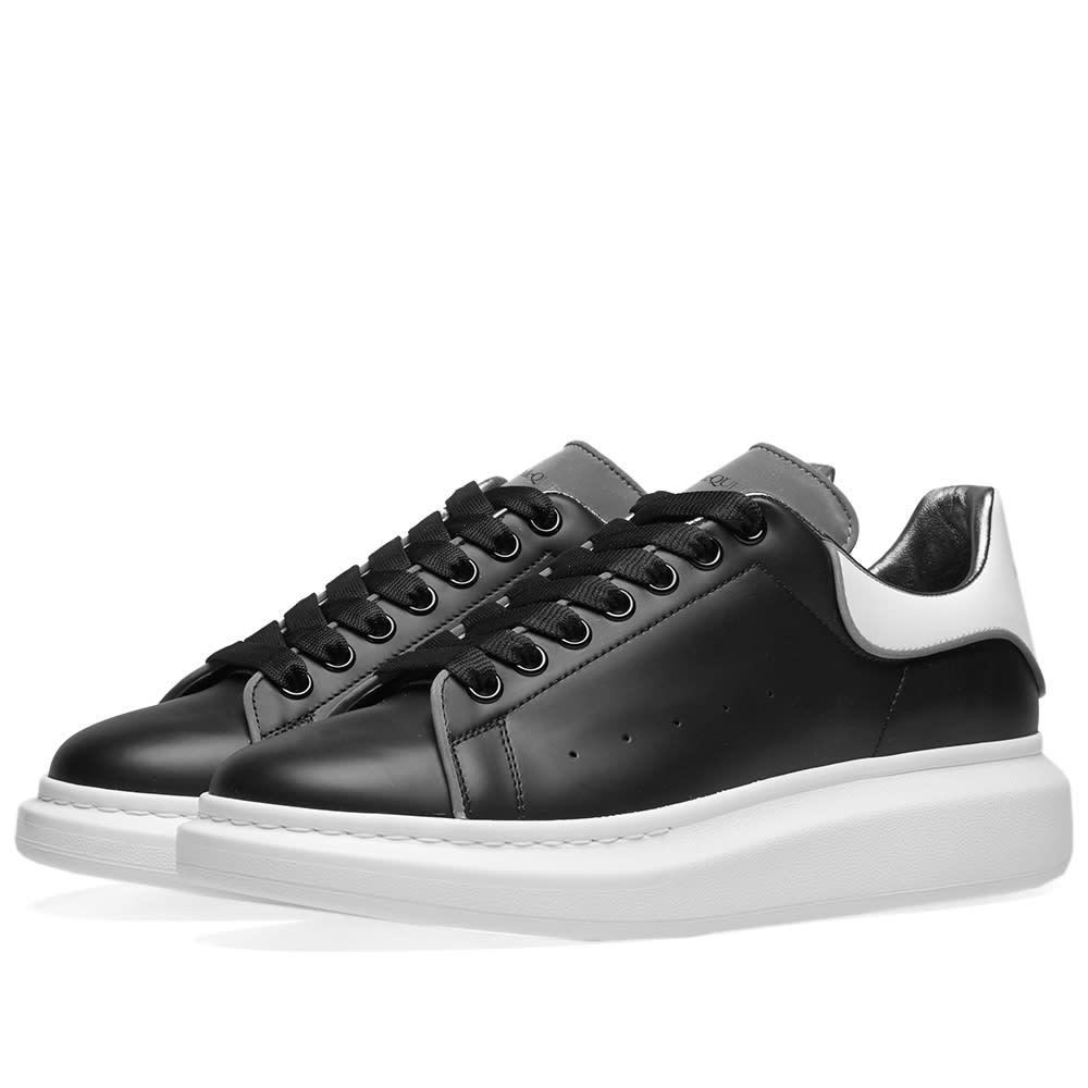 ccb0a335e Alexander McQueen Wedge Sole Sneaker Black & Silver | END.