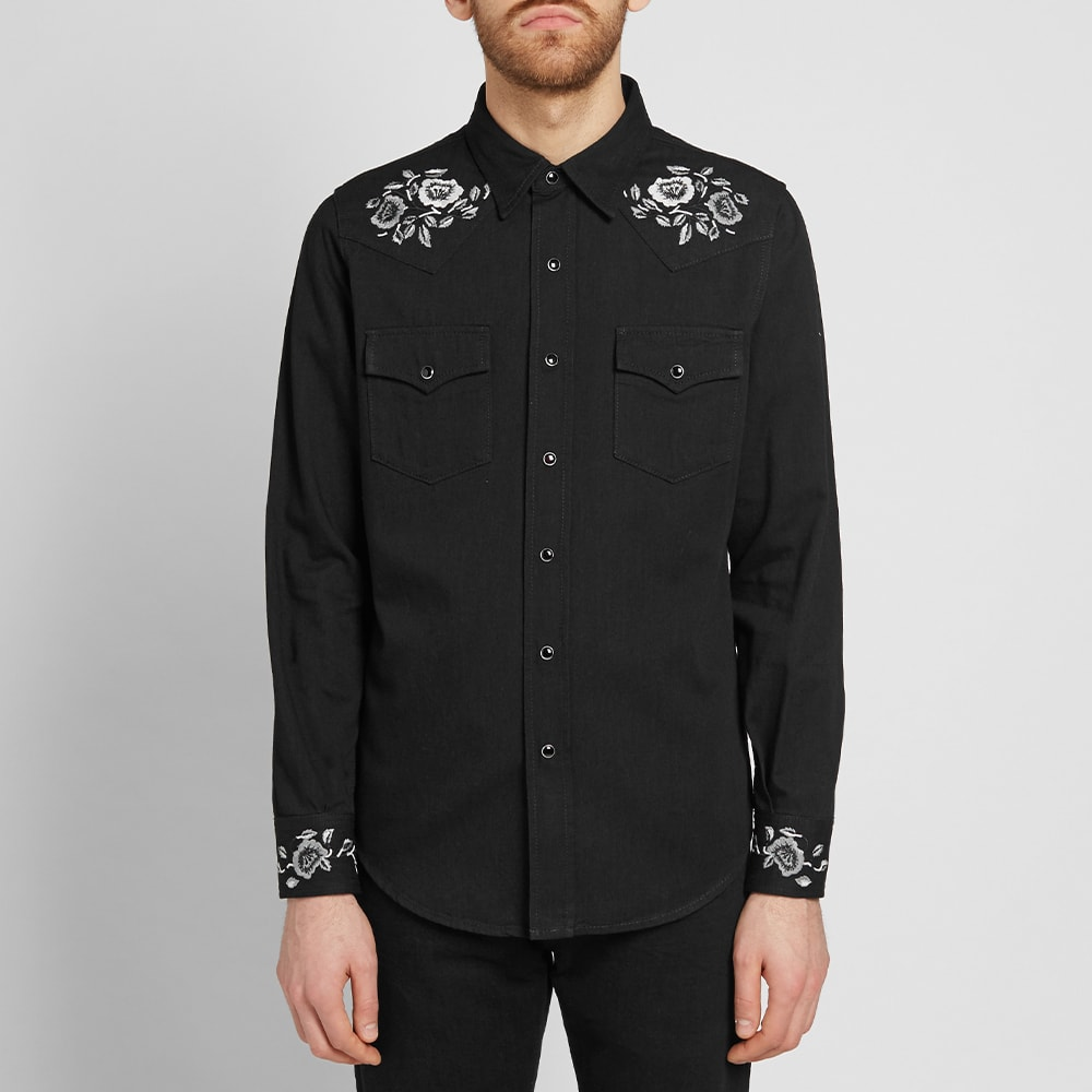 saint laurent western shirt