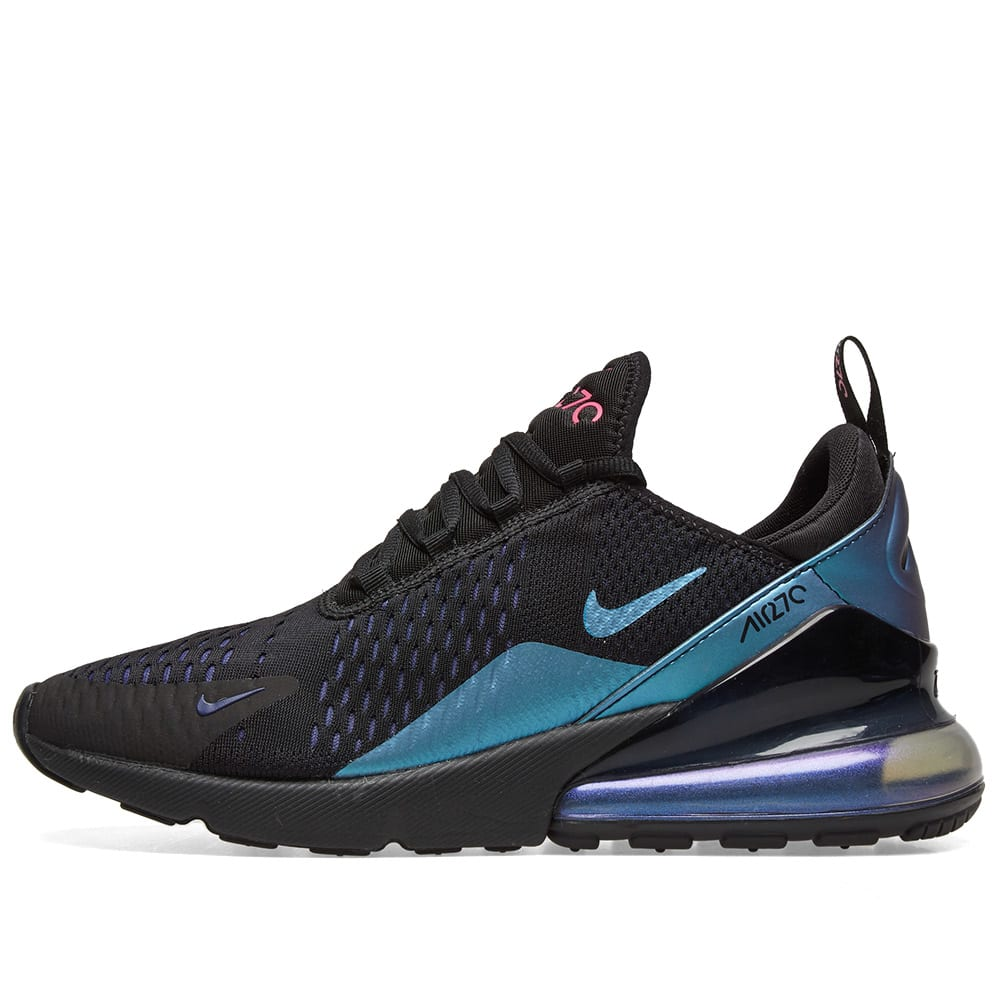 sports shoes f6a87 29a36 Nike Air Max 270  Northern Lights  W Black, Fuchsia   Purple   END.