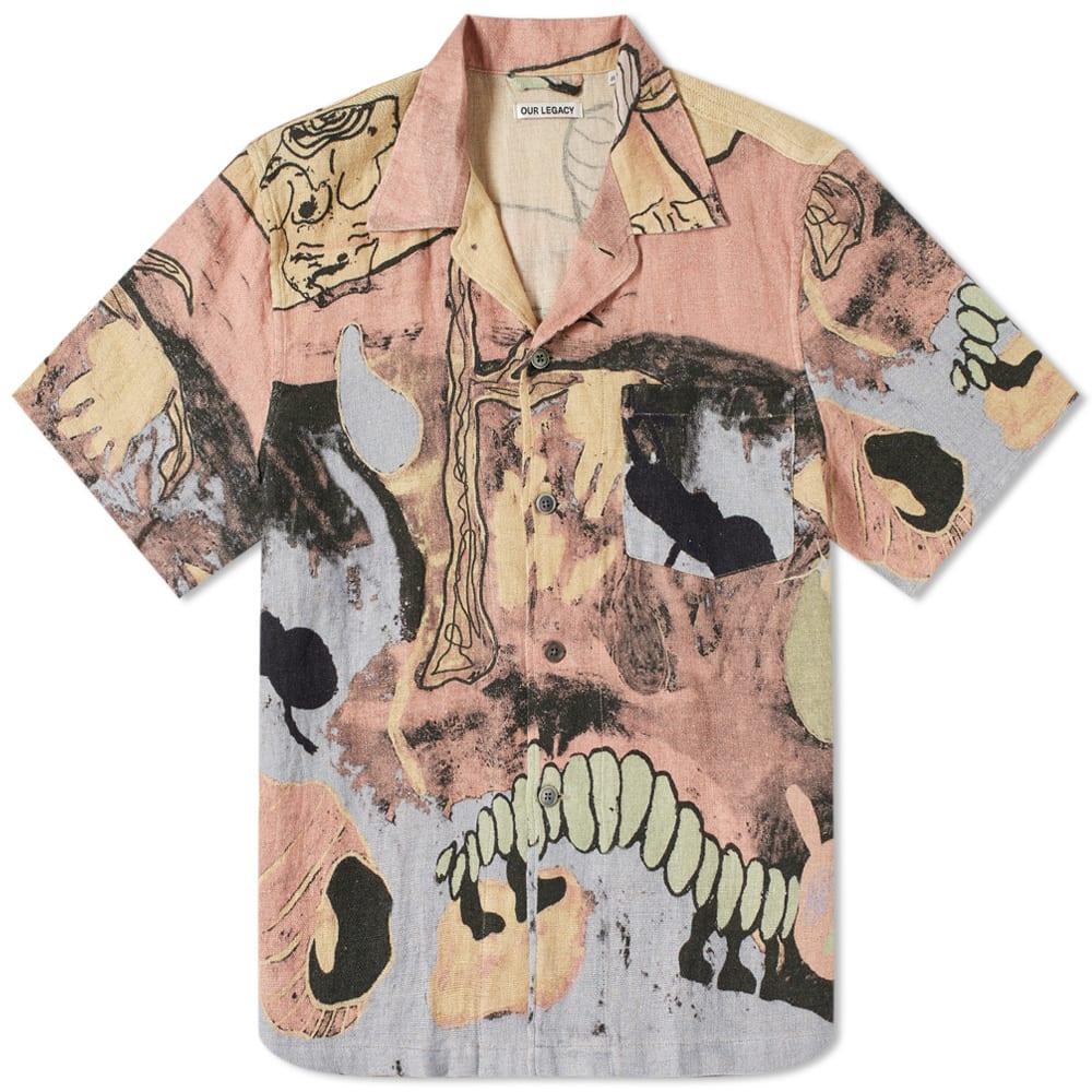 038d5caf Our Legacy Short Sleeve Box Vacation Shirt Acid Landscape Print | END.