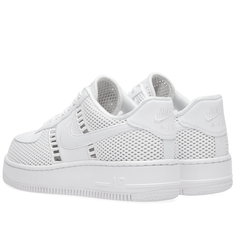 917591 100 Nike Air Force 1 Upstep SI women's white Low top Lifestyle shoes