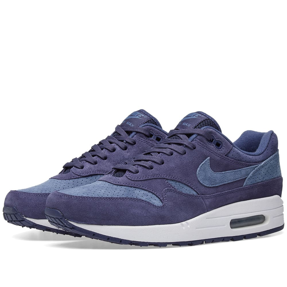huge discount 6ec64 9bc74 Nike Air Max 1 Premium Neutral Indigo   Diffused Blue   END.
