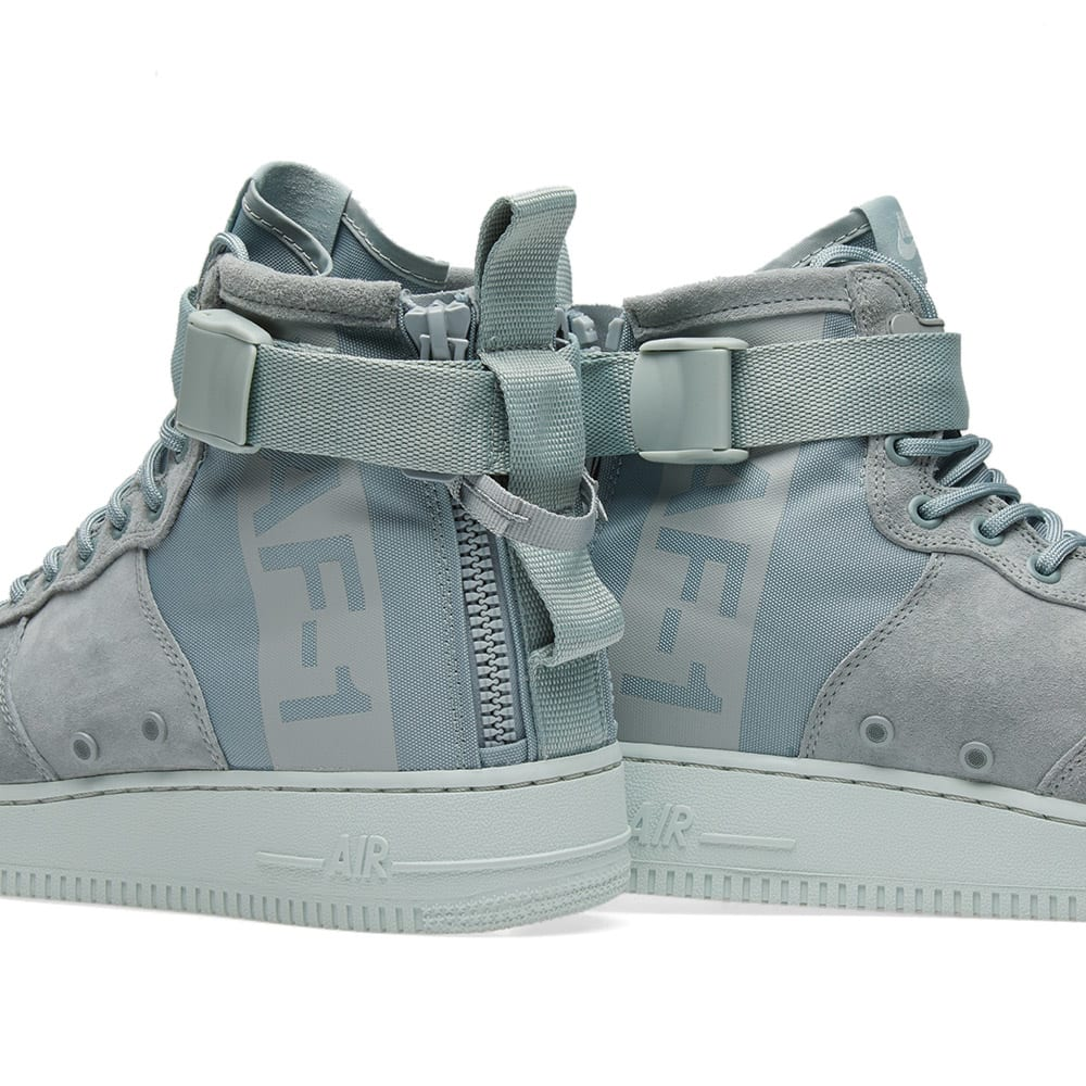 Nike Womens Sf Air Force 1 Mid Casual Sneakers Light Pumice US 7 EU 38