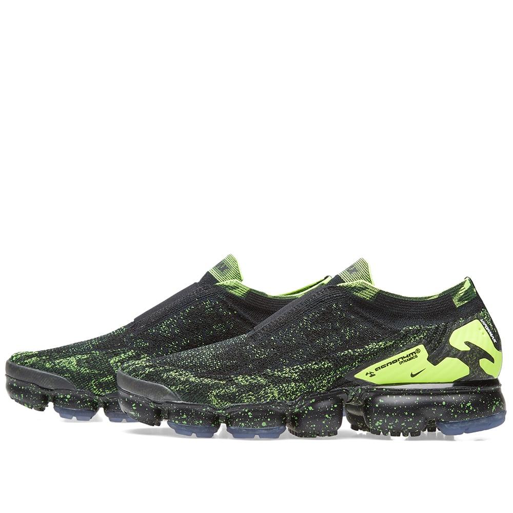 c20bb3c78353 Nike x Acronym Air VaporMax Flyknit Moc 2 Black   Volt