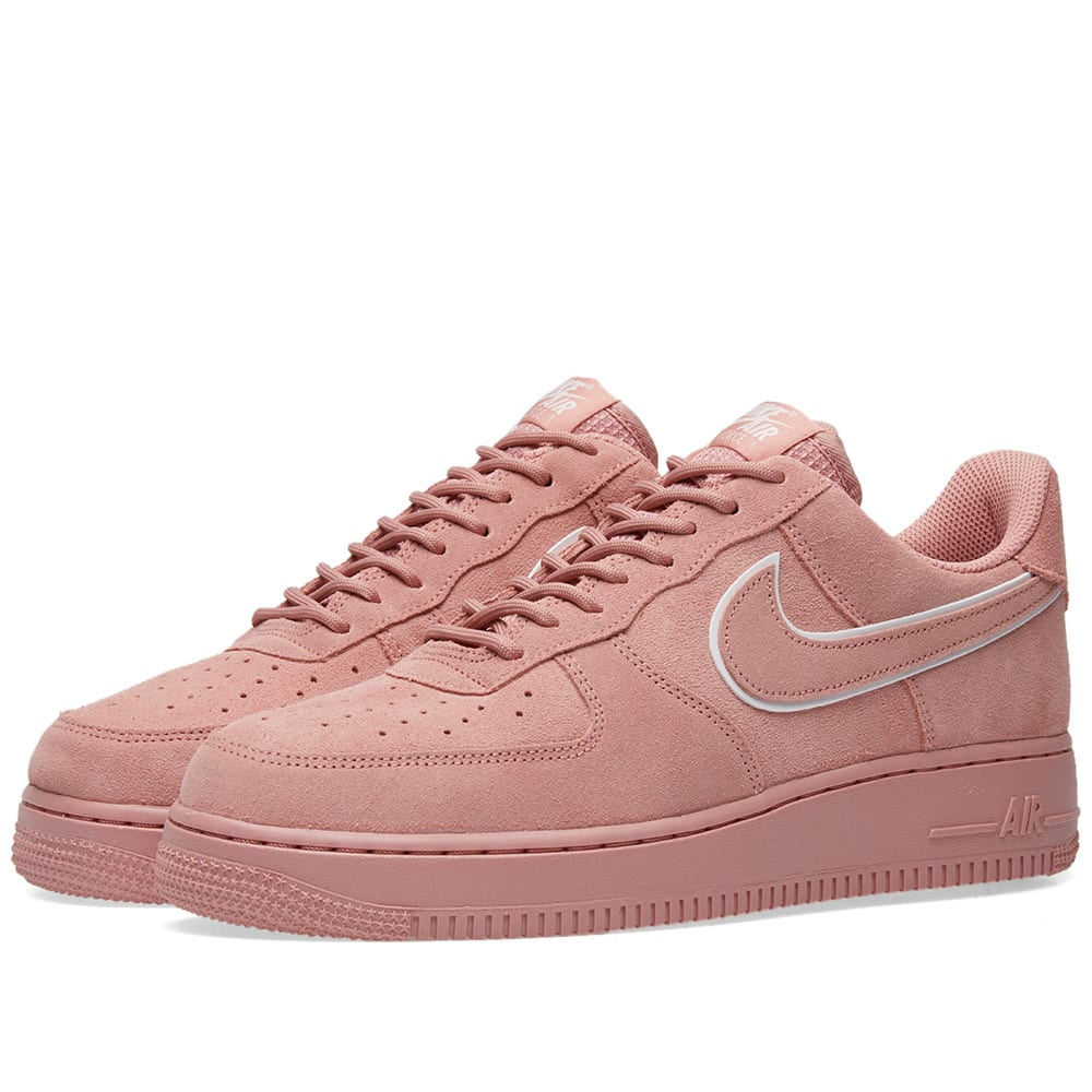 super popular a67d2 dd605 Nike Air Force 1  07 LV8 Suede Red Stardust   Dragon Red   END.